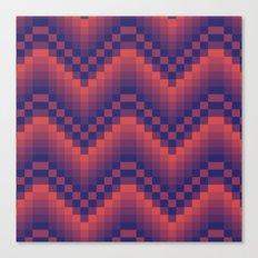 Pixelated Chevron Canvas Print