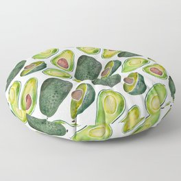 Avocado Slices Floor Pillow