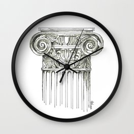 """Column"" Wall Clock"
