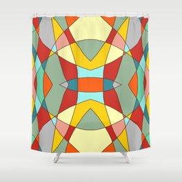 Retro Colored Mandala Shower Curtain