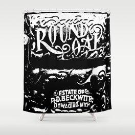 Round Oak Furnace Shower Curtain