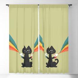 Ray gun cat Blackout Curtain