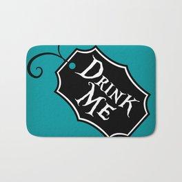 """""""Drink Me"""" Alice in Wonderland styled Bottle Tag Design in 'Alice Blue' Bath Mat"""