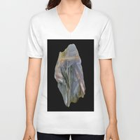 agate V-neck T-shirts featuring Chopstix Agate by The Agate Hunter