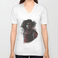 winter soldier V-neck T-shirts featuring Winter Soldier - Colour Palette by charlotvanh