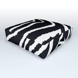 ZEBRA ANIMAL PRINT BLACK AND WHITE PATTERN Outdoor Floor Cushion