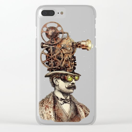 The Projectionist (sepia option) Clear iPhone Case