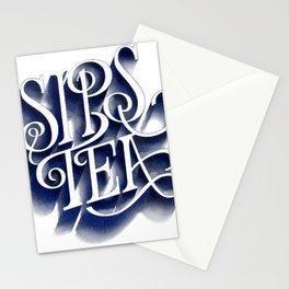 Sips Tea Stationery Cards