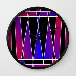 Art Deco 'Fractured' Wall Clock