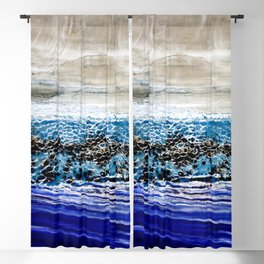 ...blurred line of horizons Blackout Curtain