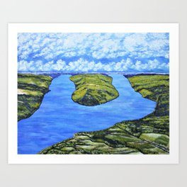 Bluff Point at Keuka Lake Art Print