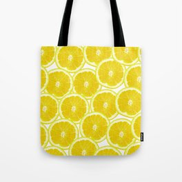 Summer Citrus Lemon Slices Tote Bag