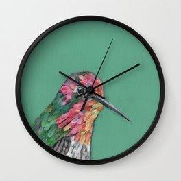 Anna's Hummingbird Portrait Wall Clock