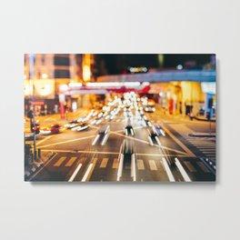 Speeding in the traffic by Night Metal Print