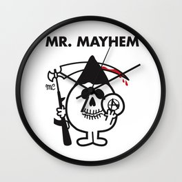Mr. Mayhem Wall Clock
