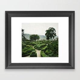 Green Dédale Framed Art Print