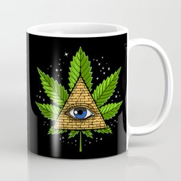 Weed Illuminati Pyramid Coffee Mug