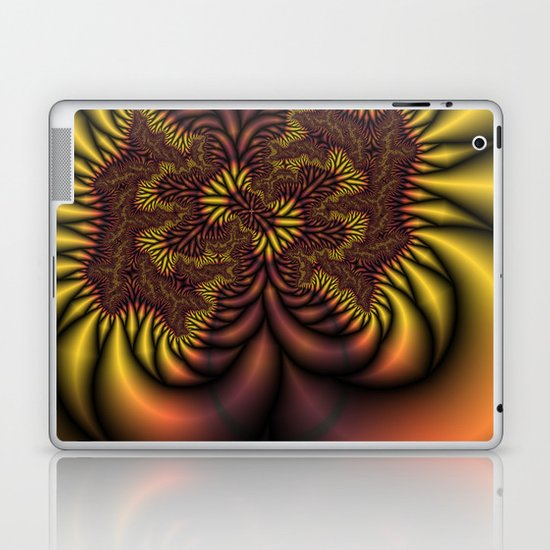 Flaming Roots fractal Laptop & iPad Skin