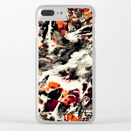 Pollock had a wife. I dunno, did he? Clear iPhone Case
