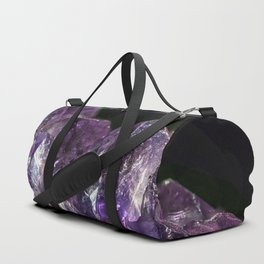 Cracked Amethyst Crystal Mountains Duffle Bag
