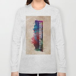 keyboard art #keyboard #piano Long Sleeve T-shirt