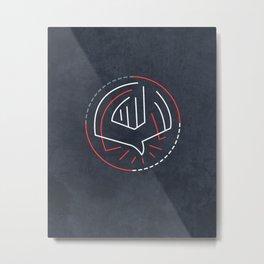 Holy Spirit minimal contemporary illustration Metal Print