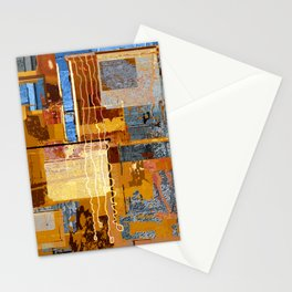 Meandering the Cellar of Peace Contemporary Abstract Stationery Cards