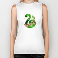 slytherin Biker Tanks featuring Slytherin by Markusian