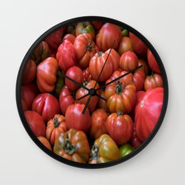 Tomato Pattern Wall Clock