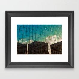 glass sky Framed Art Print