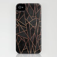 iPhone 4 Case featuring Shattered Black / 2 by Elisabeth Fredriksson