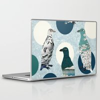polka Laptop & iPad Skins featuring Penguin Polka by Paula Belle Flores