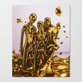 Molten Gold Canvas Print