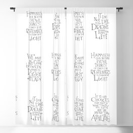 It is our choices Blackout Curtain