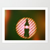 coke Art Prints featuring coke  by Anastasia Bogdanchikova