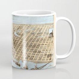 Map Of Galveston 1871 Coffee Mug