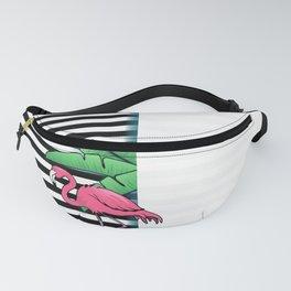 Tropical Flamingo Design Fanny Pack