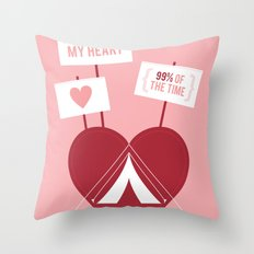 Occupy My Heart Throw Pillow