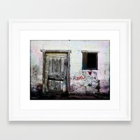 revolution Framed Art Prints featuring rEVOLution by Bärdie D/Sign