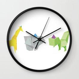 Origami Partyanimals Wall Clock