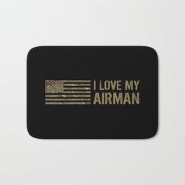 I Love My Airman Bath Mat
