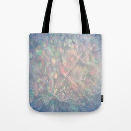 Sparkling Crystal Maze Abstract Tote Bag