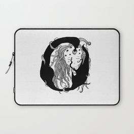 Girl with holes in her head Laptop Sleeve