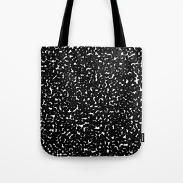 Pointillize Black Tote Bag