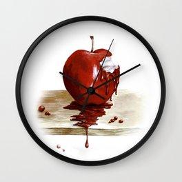 RED. Manzana Sangrienta (Caramelo Protector) Wall Clock