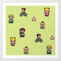 earthbound Art Prints featuring Earthbound - Mother 2 by Nikki White