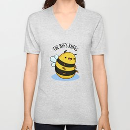 The Bee's Knees Cute Bee Pun Unisex V-Neck