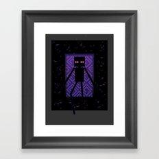 Here comes the Enderman! Framed Art Print