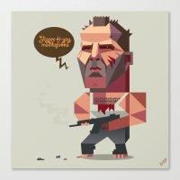 die hard Canvas Prints featuring John McClane - Die Hard by Robin Gundersen