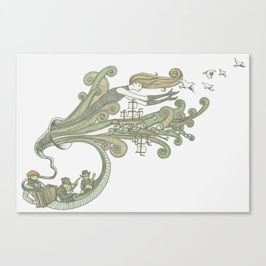 Wayfaring Waltz Canvas Print